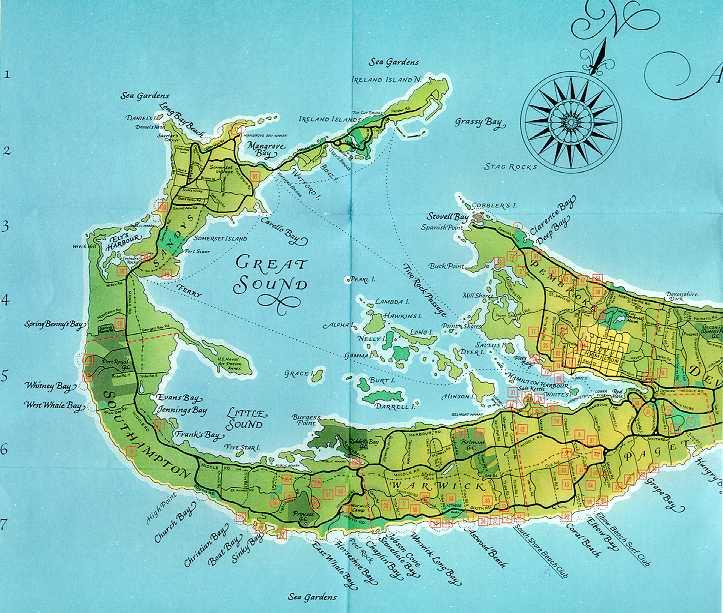 Bermuda Map – Bermuda Tourist Map